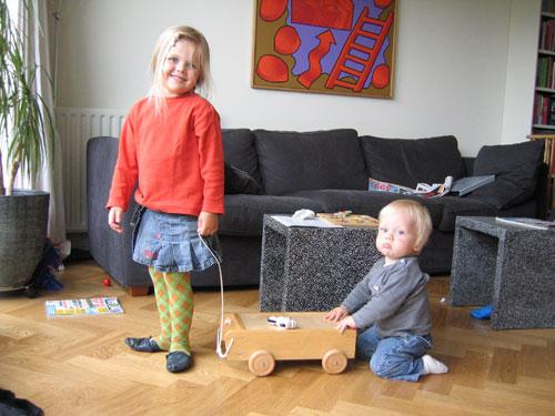 Sibren en Marijn spelen samen