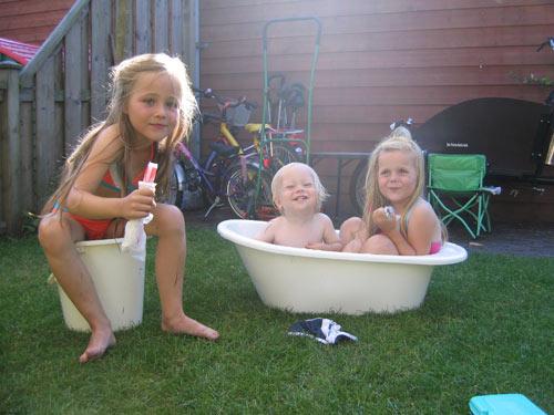 Lekker in het badje