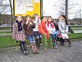 Alle meiden op een rijtje: Kim, Isa, Myrthe, Tessa, Judith, Yrsa (achter Judith verstopt) en Parvanie