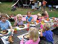Twee keer per week is er gezamenlijk eten op de camping, waarvoor je je kunt opgeven
